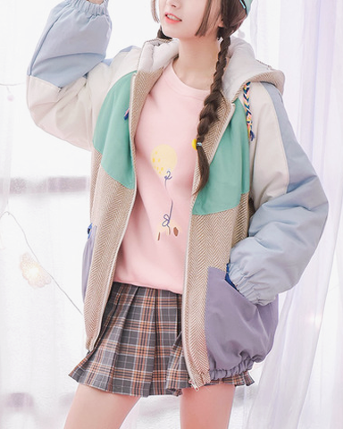Sporty Kawaii Winter Jacket