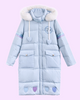 Heart hooded winter coat