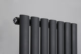 Reina Neva Vertical Anthracite Designer Radiators - www.ultrabathroom.com