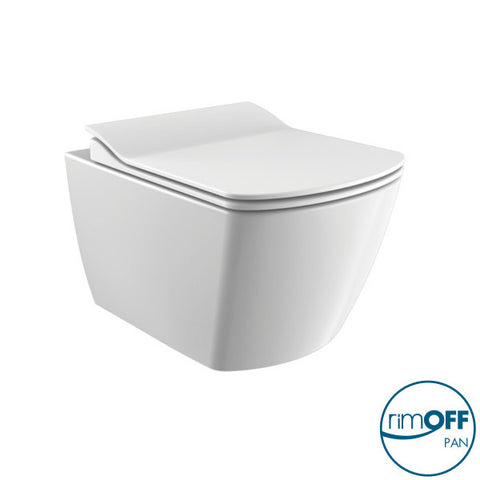 Elegance Rimless Wall Hung Combined Bidet Toilet With Soft Close Seat