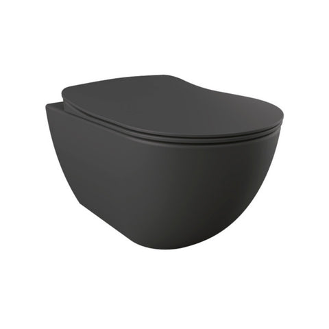 Franco Anthracite Wall Hung Combined Bidet Toilet With Soft Close Seat