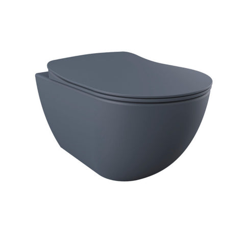 Franco Basalt Wall Hung Combined Bidet Toilet With Soft Close Seat