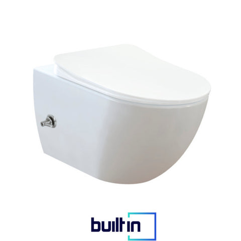 Franco Integrated Wall Hung Combined Bidet Toilet With Soft Close Seat