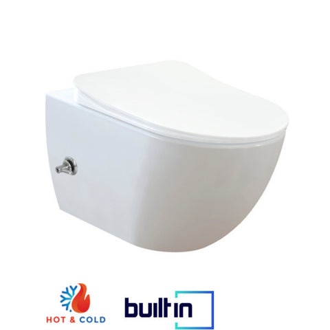 Franco Integrated Hot and Cold Wall Hung Combined Bidet Toilet With Soft Close Seat