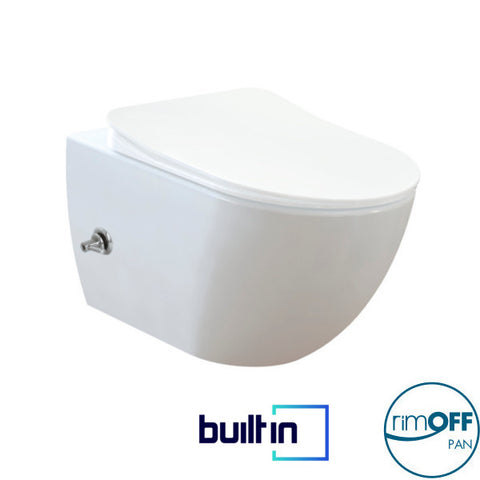 Franco Integrated Rimless Wall Hung Combined Bidet Toilet With Soft Close Seat