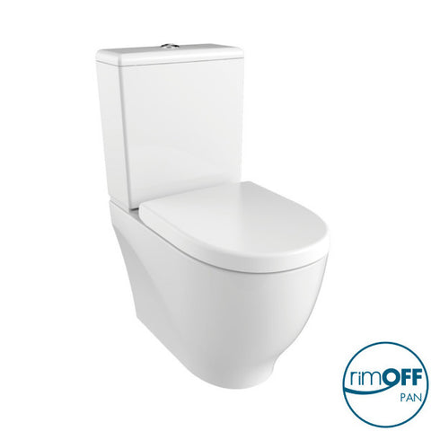 Mayor RIMLESS Closed Couple Combined Bidet Toilet With Soft Close Seat