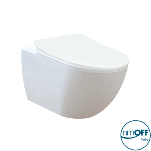 Franco Rimless Wall Hung Combined Bidet Toilet With Soft Close Seat