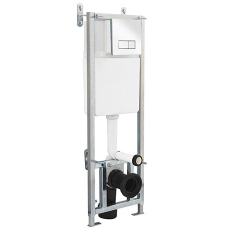 Premier Dual Flush Concealed WC Cistern with Wall Hung Frame Including Dual Push Plate