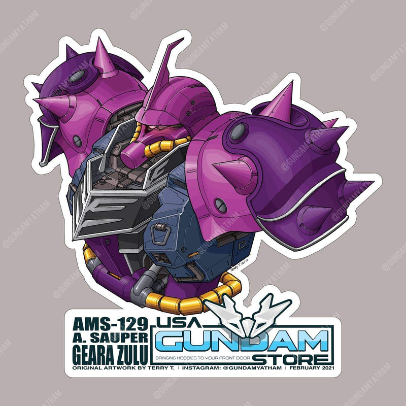 February's New Gundam Sticker Geara Zulu