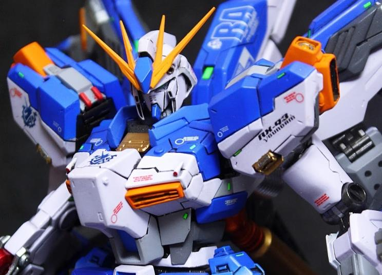 CUSTOM BUILD: 1/100 RX-93V2 HI-V GUNDAM VICIOUS PROJECT RESIN KIT ANAZASI CUSTOM