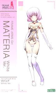 FRAME ARMS GIRL MATERIA WHITE VERSION PLASTI MODEL KITS