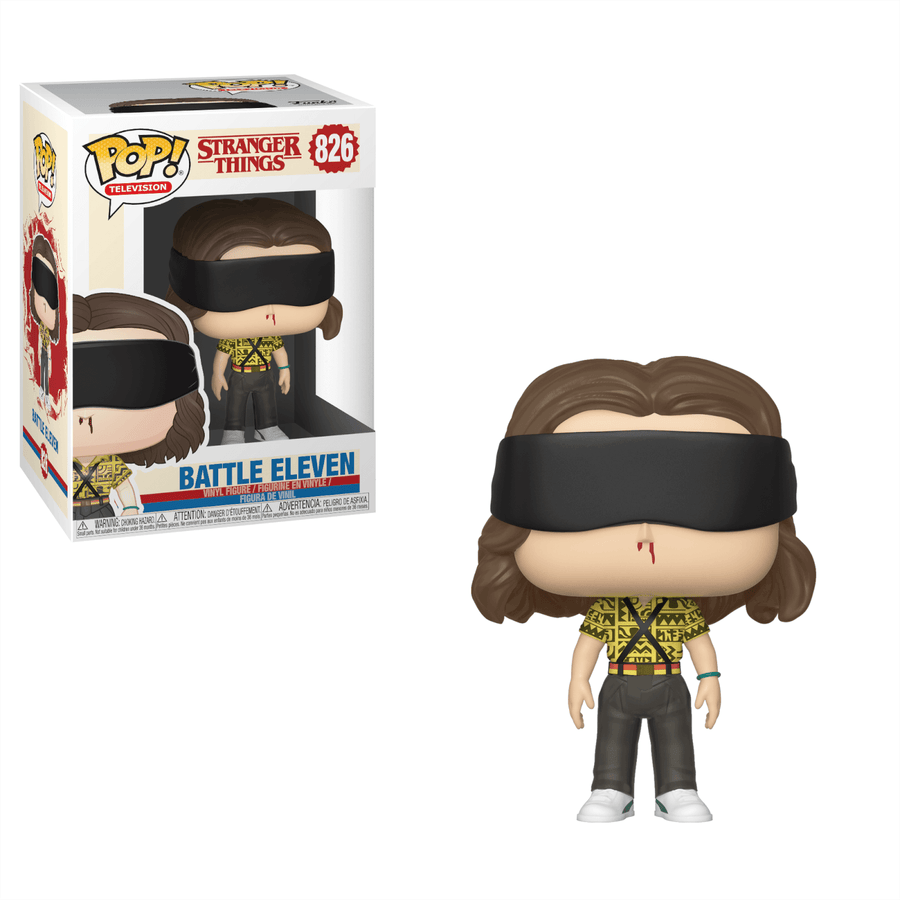 STRANGER THINGS BATTLE ELEVEN POP! VINYL FIGURE W/ Pop Protector