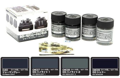 Gunze Sangyo Paint CS583 German Gray Version, Color Modulation Set