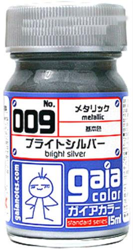 Gaia Metallic Color 009 Bright Silver 15ML