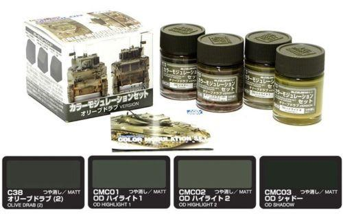 Gunze Sangyo Paint CS581 Olive Drab Version, Color Modulation Set