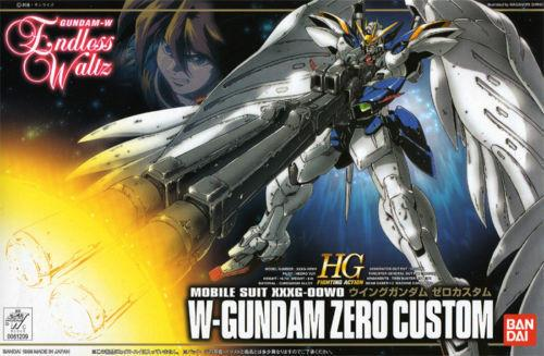 Bandai Endless Waltz 1/144 HG EW-01 XXXG-00W0 Wing Zero Custom Model Kit