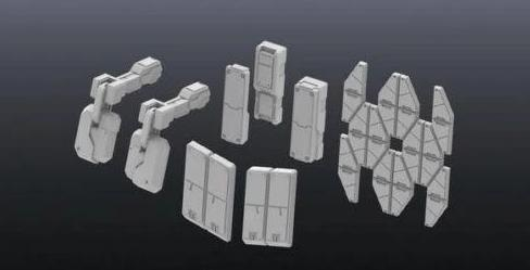 Builders Parts HD - 1/144 MS Armor 01