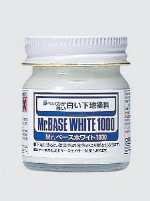 Mr Base White 1000 40ml SF283 Gunze GSI Creos Paint Supply Bottle Primer Jar - USA Gundam Store