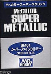 MR HOBBY GUNZE SANGYO COLOR SUPER METALLIC SM01 SILVER