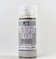 MR HOBBY ACRYLIC SPRAY 170ml SUPER CLEAR SEM-GLOSS B516