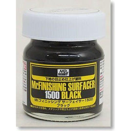 MR HOBBY GUNZE SANGYO FINISHING SURFACER 1500 BLACK 40ML SF288
