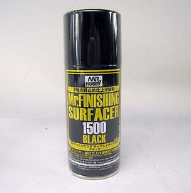 MR HOBBY GUNZE SPRAY 170ml FINISHING SURFACER 1500 Black B526