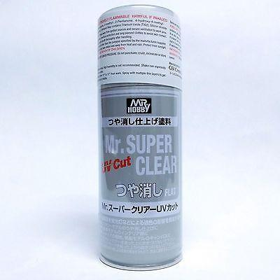 Mr Hobby Super Clear UV CUT FLAT Matte Matt 170ml Spray Sealant B523:800 Model - USA Gundam Store