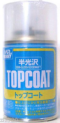 Mr Hobby Top Coat SEMI GLOSS 86ml Sealant Spray B502 GSI Creos Paint Sealant Can