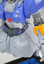 AW002 - Detail-up Warning Decal All Scale Gundam & Weapon (Gray) Builders Parts