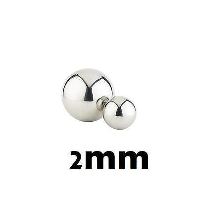 50PCs Armor Details up 2.0mm Metal Silver Bead Ball