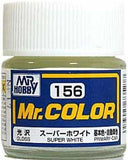 GUNZE MR HOBBY COLOR LACQUER C156 SUPER WHITE IV MODEL KIT PAINT 10ml