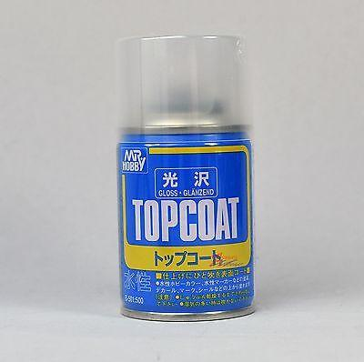 Mr Hobby Top Coat GLOSS 86ml Sealant Spray B501 GSI Creos Paint Sealant Can
