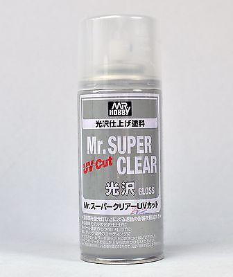 MR HOBBY SPRAY 170ml UV CUT SUPER CLEAR GLOSS B522