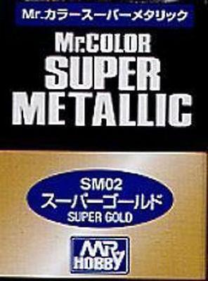 MR HOBBY GUNZE SANGYO COLOR SUPER METALLIC SM02 GOLD