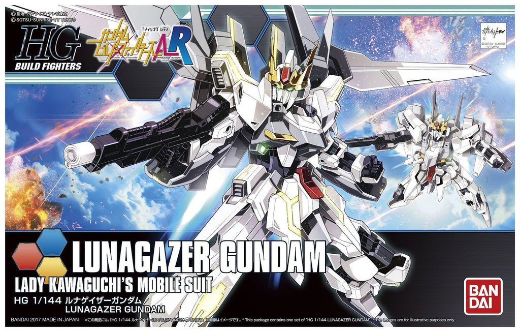 "Pre-Order Lunagazer Gundam ""Gundam Build Fighters A-R"", Bandai HGBF 1/144"