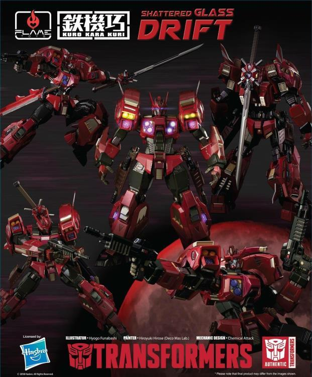 "Pre-Order Shattered Glass Drift ""Transformers"", Flame Toys Kuro Kara Kuri"