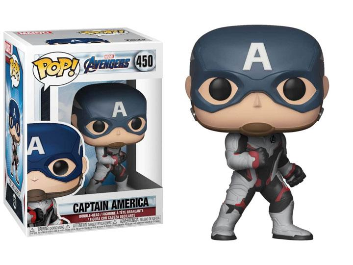 Pop! Marvel: Avengers: Endgame - Captain America W/ Pop Protector
