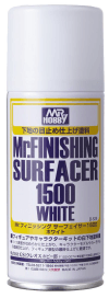 Mr Finishing Surfacer 1500 White (Aerosol Type)