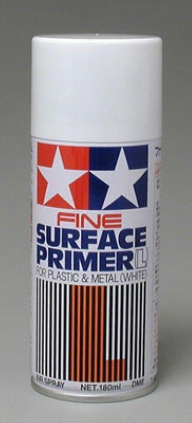 Tamiya Large Fine Surface Primer White (180ml Spray)