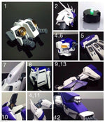 Metal Details Up Parts Set For Bandai 1/100 MG Hi Nu Gundam ver Ka Model Kit - USA Gundam Store