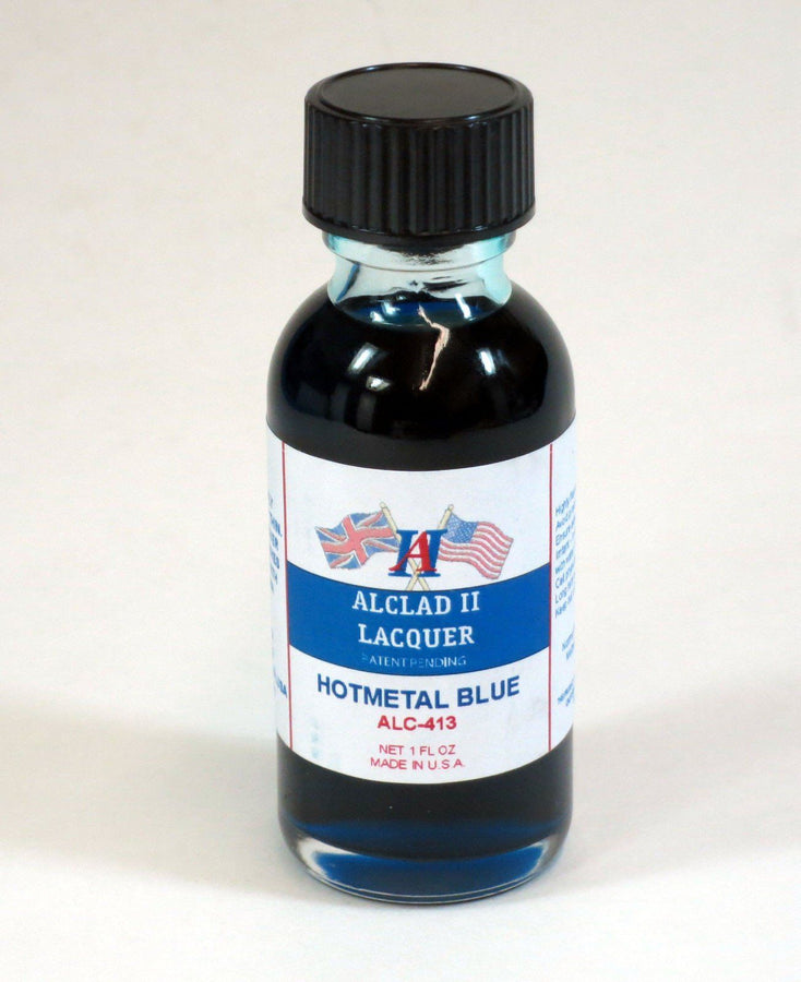 ALC-413	1oz. Bottle Transparent Hot Metal Blue Lacquer