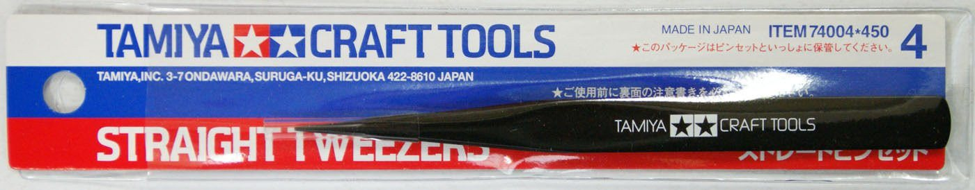 Tamiya 74004 Craft Tools - Straight Tweezers