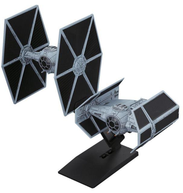 Bandai Star Wars Vehicle Model 007 Tie Advanced X1 & Fighter Set Kit 145028 1/144 scale