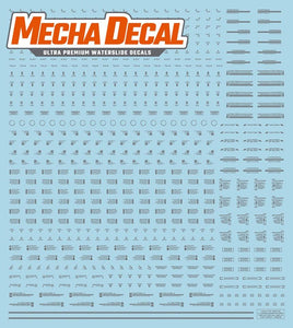 Mecha Decal 001-G USA Gundam x Child of Mecha CARTOGRAF 1/144