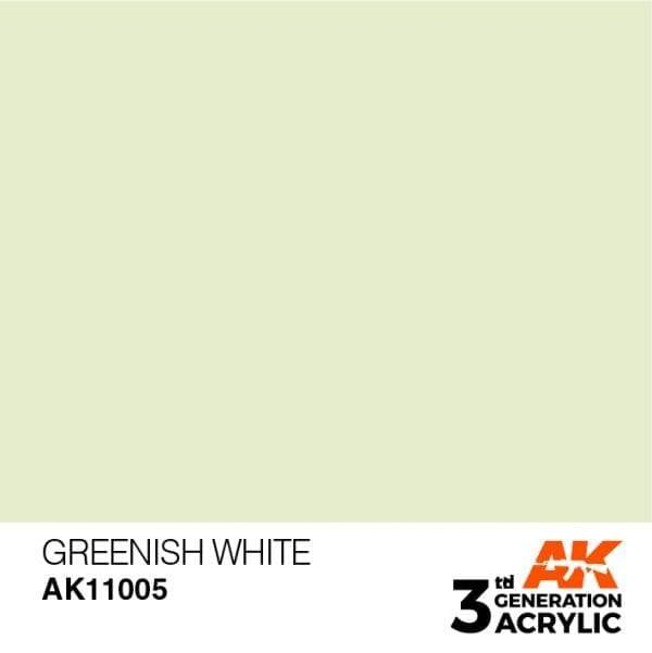 AK Interactive 3rd Gen Acrylic Greenish White 17ml