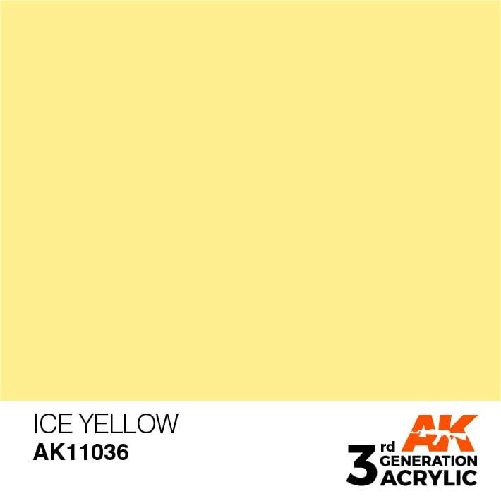 AK Interactive 3rd Gen Acrylic Ice Yellow 17ml