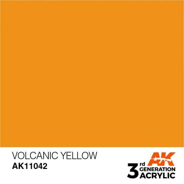AK Interactive 3rd Gen Acrylic Volcanic Yellow 17ml