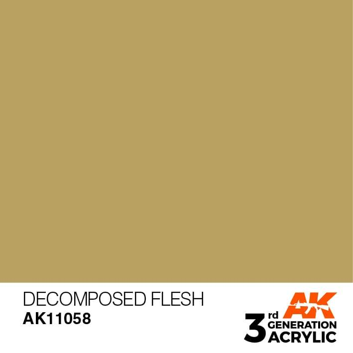 AK Interactive 3rd Gen Acrylic Decomposed Flesh 17ml