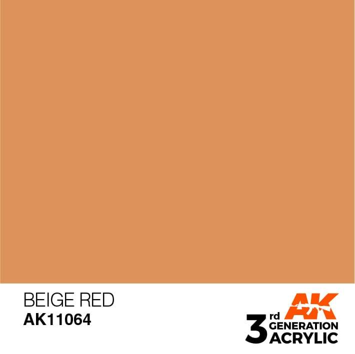 AK Interactive 3rd Gen Acrylic Beige Red 17ml