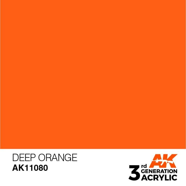 AK Interactive 3rd Gen Acrylic Deep Orange 17ml